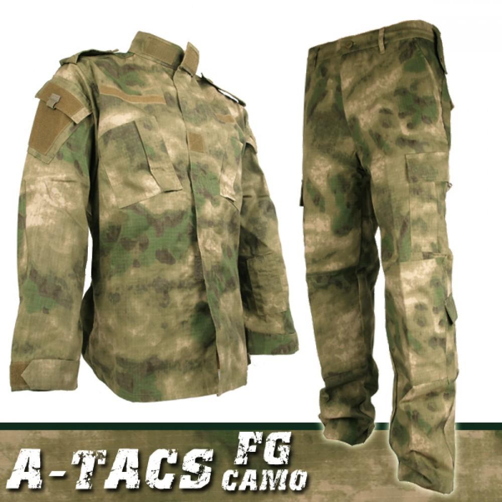 迷彩服上下セット A-TACS FG