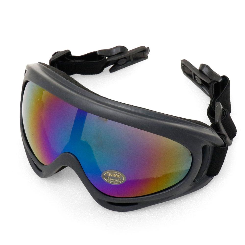 ヘルメットレール取付け GX-500タイプ コンバット タクティカル ゴーグル (BK/グレー レインボー クリアレンズ) FASTヘルメット サバゲー