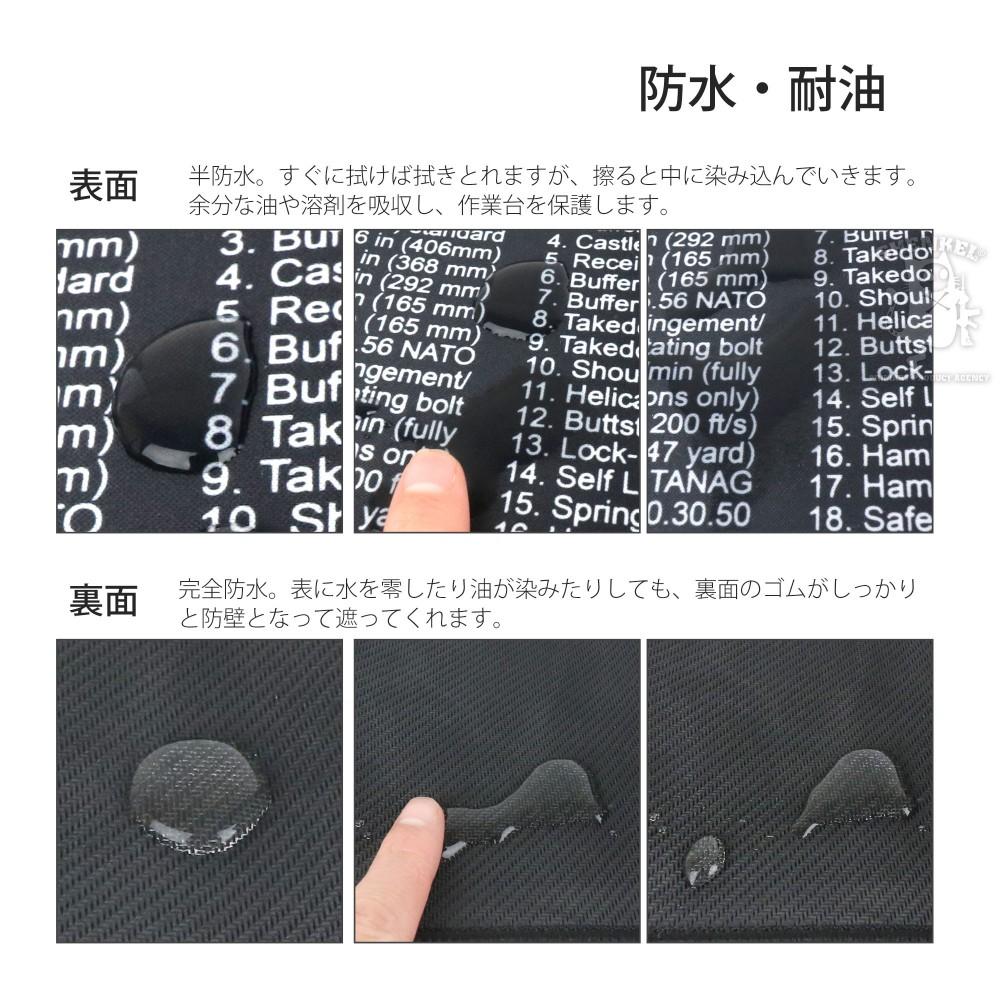 SHENKEL シェンケル ガン分解 マウスパッド デスクマット 大判 AR-15 クリーニングパッド メンテナンスマット ラバーマット ミリタリー サバゲー